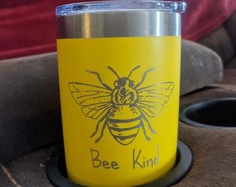 Bee Kind on a Tumbler
