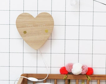 Wooden heart applique