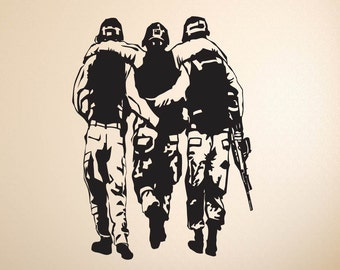 Soldiers Military US Army Wall Decal Vinyl Stickers Mural