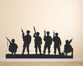 Soldiers Military US Army Swat Wall Decal Vinyl Stickers Mural