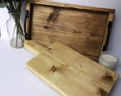 Reclaimed Scaffold Serving Platter Wooden Bread Board Serving Tray Rustic Kitchen Solid Wood Food Safe Farmhouse