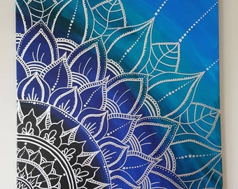 Mandala Canvas Etsy
