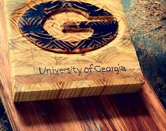 UGA end grain cutting board