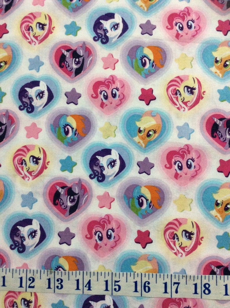 My Little Pony Heart Toss Multi Cotton Quilting Fabric 12 YARD