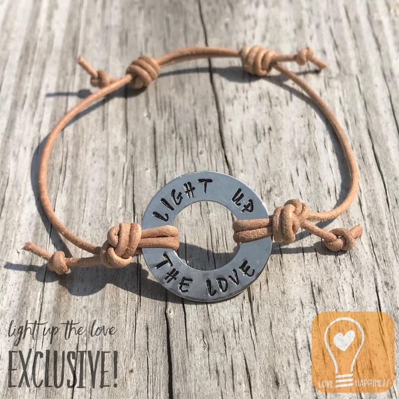 Light Up the LOVE™ Metal Stamped Bracelet image 0