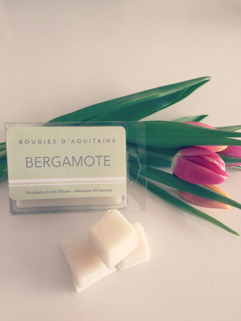made in France hand-made in France French gift soy wax melt candle gift Bergamot scented soy wax melt