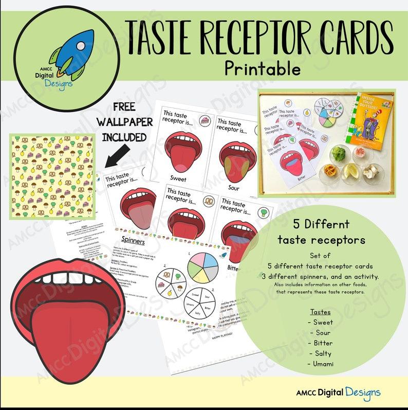 TASTE RECEPTOR CARDS (free wallpaper inc)