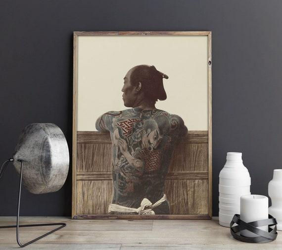 De Tatouage Japonais Vintages Poster Yakuza Tatouage Etsy