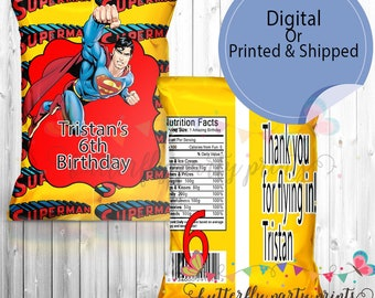 Superman Chip Bag (Assembly Instructions Included)