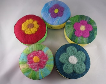 Squeaky Clean Felted Soaps - Flowers