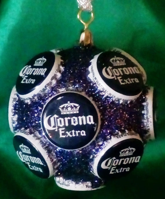 Corona Beer Bottle Cap Ornament Christmas Tree Decoration Etsy