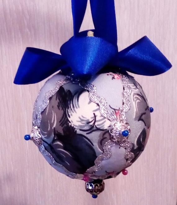 Victorian Style Ornament Decoration Christmas Tree Home Decor Handmade Kimekomi Ball Gift #35