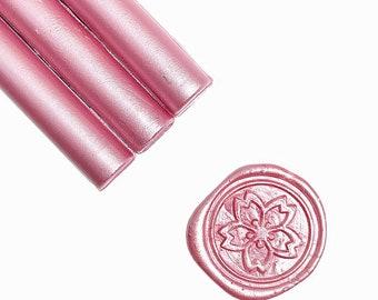 Metallic Sakura Pink Glue Gun Sealing Wax Sticks, Pack of 8