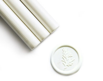 Snow White Glue Gun Sealing Wax Sticks, Pack of 8