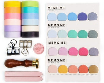 Bullet Journal Accessories Washi Masking Tape Kit - Pastel Watercolor Collection