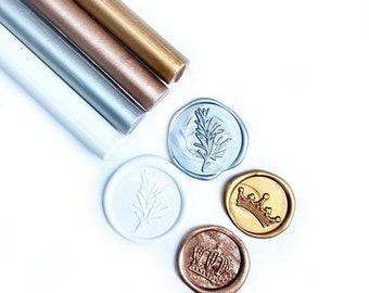 Metallic Assorted Color Glue Gun Sealing Wax Sticks, Pack of 8