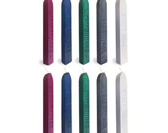 5 Color Chinese Ink Painting Shades Sealing Wax Sticks With Wick, Pack of 10
