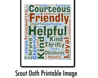 picture relating to Cub Scout Oath Printable titled Scout oath Etsy