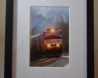 Framed 4x6 Train Photography