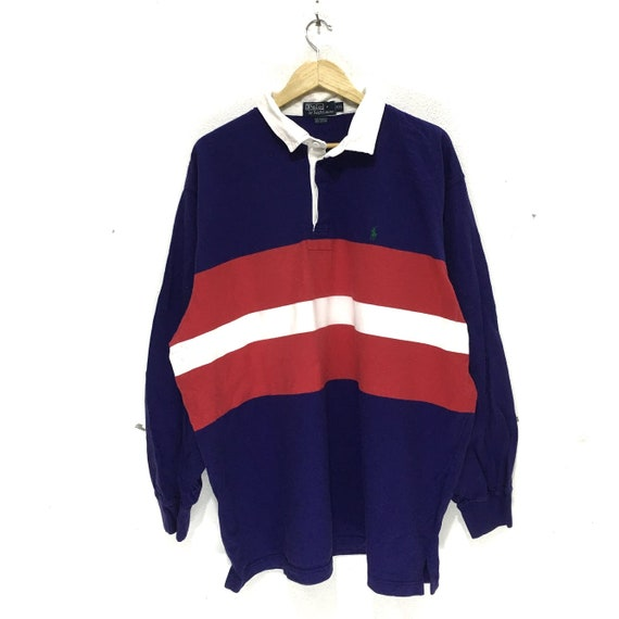 Vintage POLO RALPH LAUREN Small Pony Striped Rugby