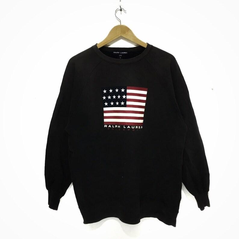 42935d68 Vintage POLO SPORT Ralph Lauren Flag Logo Crewneck Sweatshirt | Etsy