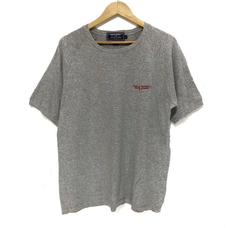 f4febf76 Vintage POLO SPORT Ralph Lauren Small Logo USA Flag Tee Shirt | Etsy