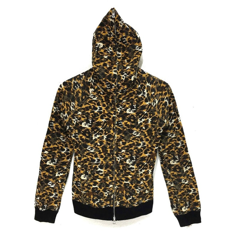 BAPE A Bathing Ape Tiger Leopard Striped Made In JAPAN Hoodie Camo Candy Hooded