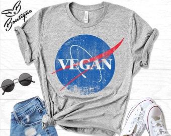 2b50afe58 Vegan Shirt | Vegan Clothing | Vegan T Shirt | Vegan Gift | Vegan Nasa  T-shirt | Herbivore Shirt | Vegan T-Shirt | Vegan | Vegetarian Shirt