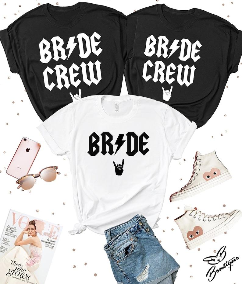 Rock Bride T-shirt Heavy Metal Bride Bridesmaid T-shirts image 0