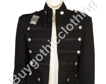 270ed36d1e0 Gothic Steampunk Military Vintage Band Jacket