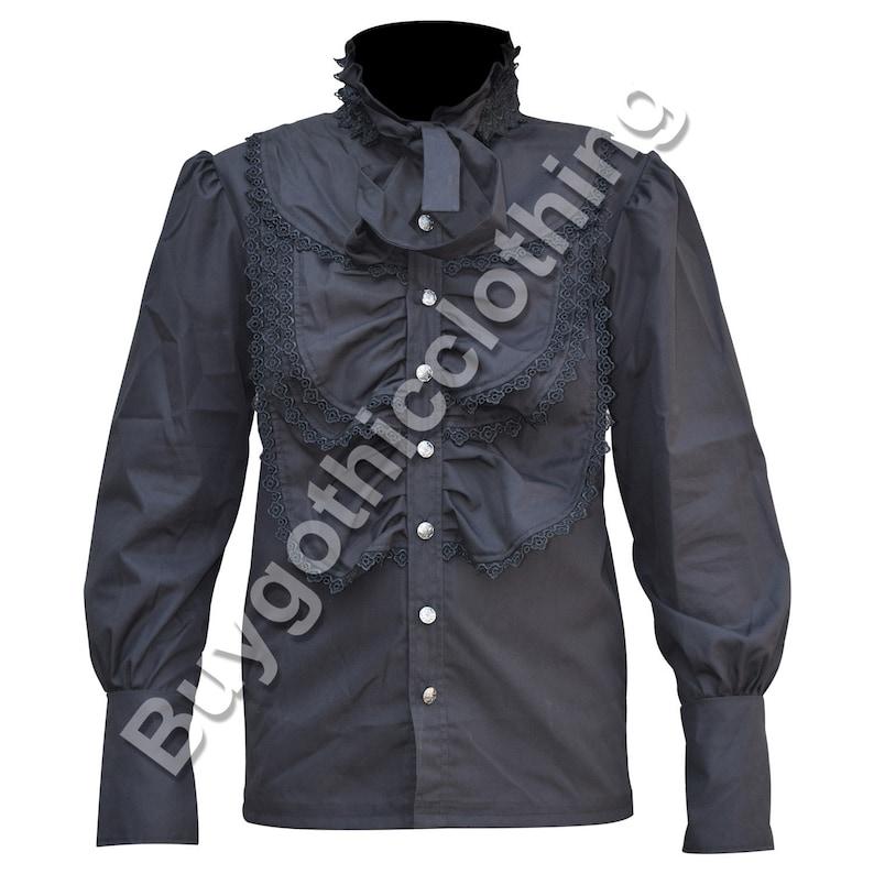 bc9afcef777 Steampunk Shirt Top Mens Gothic Punk VTG VIctorian Regency