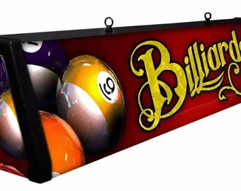 RED BILLIARDS Back lit Pool Table Light