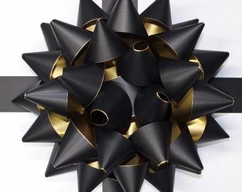 2bd554917c 28cm Giant Present Bow Venue/Party decor MATT Black/Gold bow 11