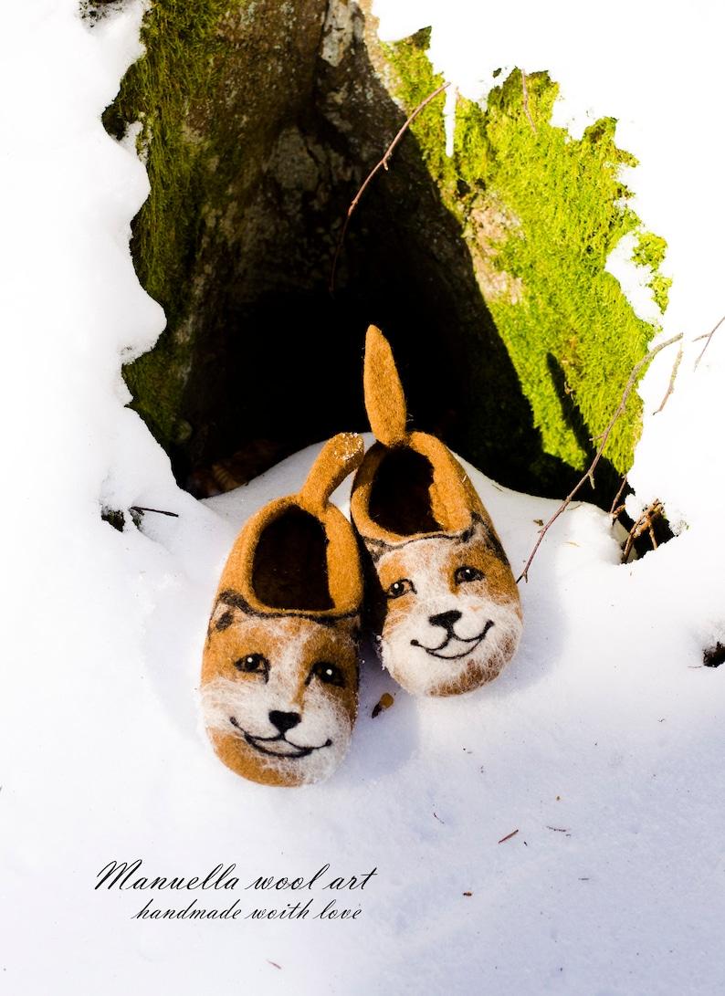 Felt slippers for kids,Childrens shoes,Dog slippers,Animal slippers,Felt slippes Wool kids slippers