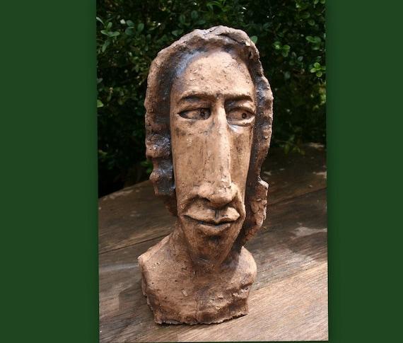 Keramik Figur Skulptur Garten Büste Unikat Von Mj Arts Etsy