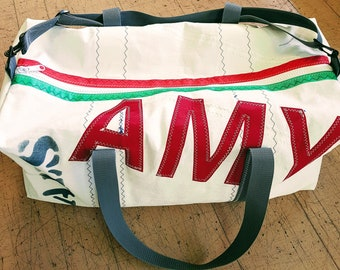 50203638a55a Original Recycled Sail Cloth kit bag (sailbag kitbag using recycled sails)  LARGE