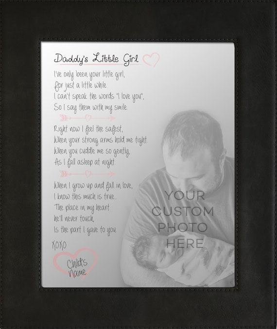 Personalized Daddys Little Girl Poem Print Black Frame Etsy
