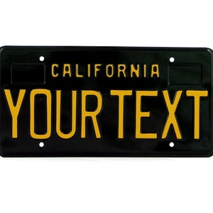 Boxes for dates California Retro Vintage US USA License Plate Custom Embossed Alu Made in Germany Express Shipping