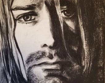 Kurt Cobain (Original Charcoal Drawing)