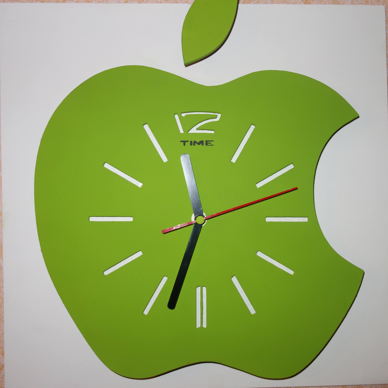 Wall Clock Apple Etsy
