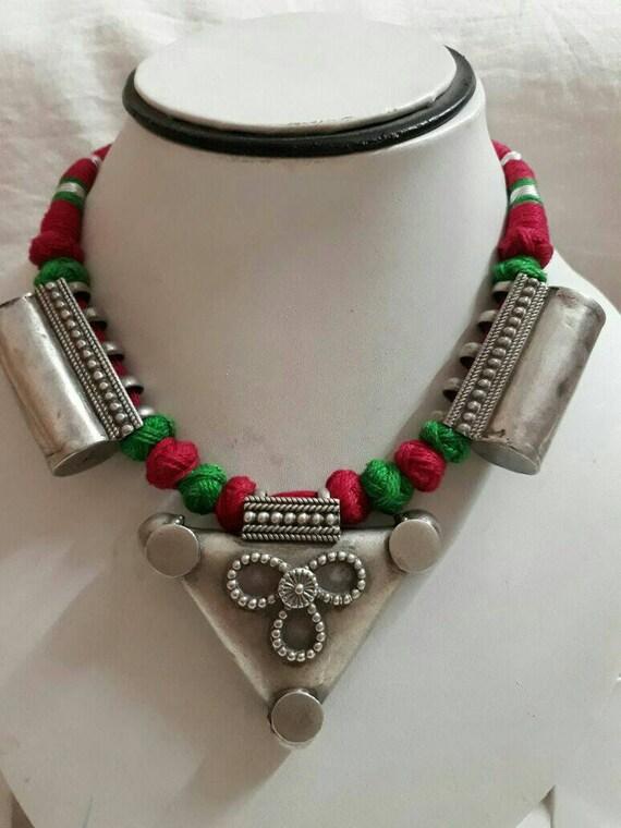 Vintage 1970s Necklace Handmade Necklace High Grad
