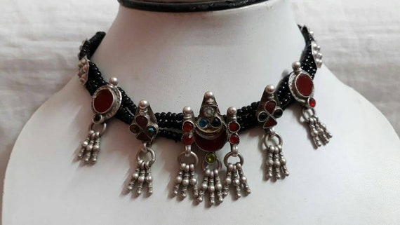 Vintage 1970s Real Old  Necklace Handmade Necklace
