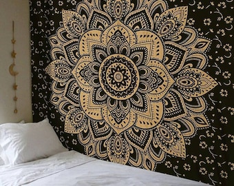 wall hanging mandala hanging Bohemian Wall Tapestries, Yoga Wall Hanging, Tapestry Wall Throw, Dorm Wall Tapestry,  100 % cotton tapestry