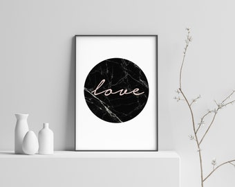 Blush Love Circle Modern Scandinavian Print Poster (#3)