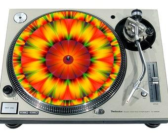 Pinup Black Negligee Slipmat Slip Mat Scratch Pad Felt for any 12 LP DJ Vinyl Turntable Record Player Custom Graphical
