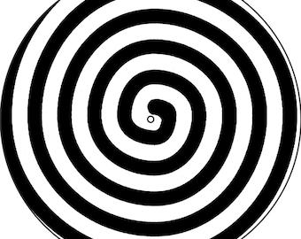 "Slipmat Slip Mat Scratch Pad Felt for any 12"" or 7"" LP DJ Vinyl Turntable Record Player Custom Graphical *Spiral*"