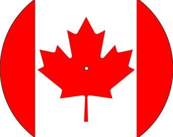"Slipmat Slip Mat Scratch Pad Felt for any 12"" or 7"" LP DJ Vinyl Turntable Record Player Custom Graphical ""Canada Flag"""