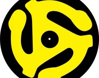 "Slipmat Slip Mat Scratch Pad Felt for any 12"" or 7"" LP DJ Vinyl Turntable Record Player Custom Graphical ""45 Adapter"""