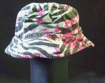 Pink Zebra Tie Dye Baby Hat
