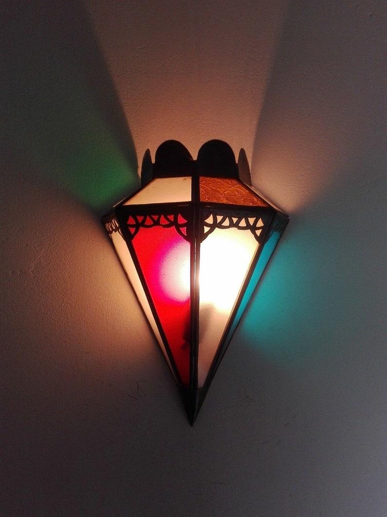 Parete Ferro E Vetro applique da parete in ferro e vetro marocchina artigianale marocco etnico  1141